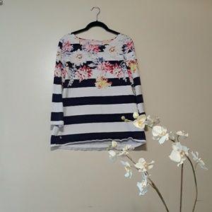 Joules  Nautical Striped Floral Cotton shirt